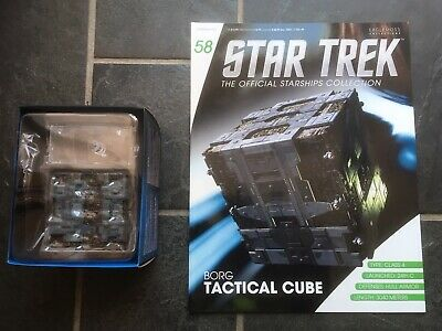 Star Trek Eaglemoss #58 Borg Tactical Cube With Magazine