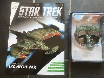 Star Trek Eaglemoss #47 Klingon IKS Negh'var With Magazine