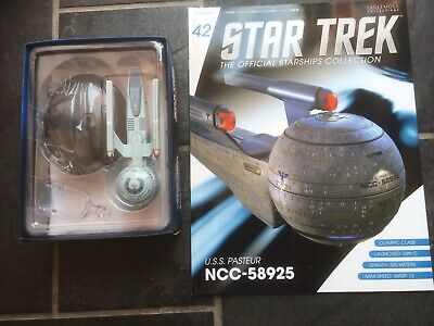 Star Trek Eaglemoss #42 Federation USS Pasteur With Magazine