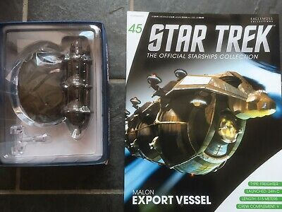 Star Trek Eaglemoss #45 Malon Export Vessel With Magazine