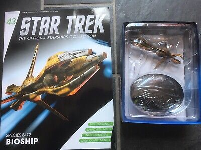 Star Trek Eaglemoss #43 Species 8472 Bioship With Magazine