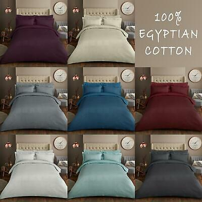 500TC Thread Count Duvet Cover Set Luxurious Woven 100% Egyptian Cotton