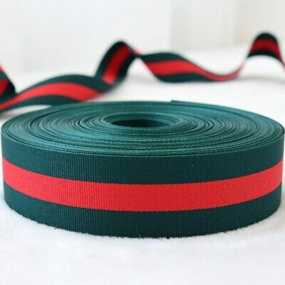 Red & Hunter Green Grosgrain Ribbon By The Yard Gucci Inspired Colors