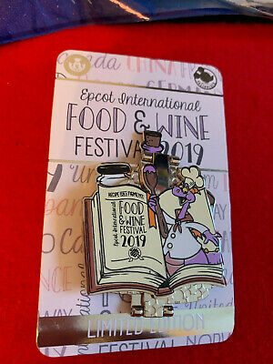 Disney Parks Epcot 2019 Food And Wine Festival Figment Passholder Pin LE