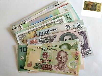 22 X World Banknotes colletion. Collectable job Lot. All Different. Unc Set .