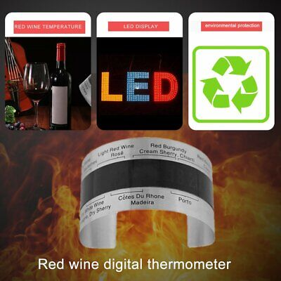 Stainless Steel Electric Red Wine Digital Thermometer 4-24 Centigrade Sensor#E