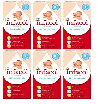 (6 PACK) Infacol Baby Colic Relief Drops 55ml - Suitable To Use From Birth