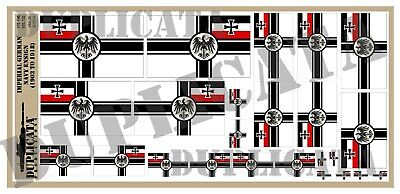 Diorama Accessory - Imperial German Navy Flag (1903-18) - 1/72, 1/48, 1/32, 1/35