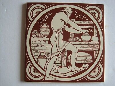 Vintage H & R Johnson Repro Tile - Moyr Smith Industrial Series - The Potter