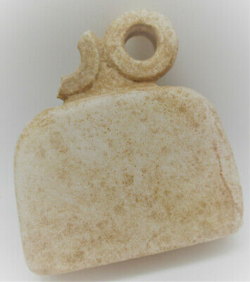 Museum Quality Ancient Syro Tel-Brak Alabaster All Seeing Eye Idol 5000Bce