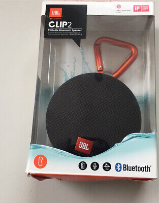 JBL Clip 2 Portable Bluetooth Speaker Wireless Waterproof Black