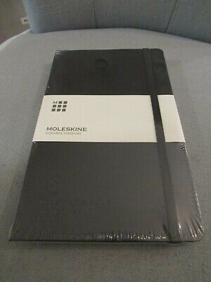 "Moleskine Notebook Hard Cover, Large (5"" x 8.25"") Ruled/Lined BLACK"