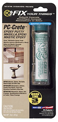PC Products 25581 PC-Crete Hand Moldable Concrete Epoxy Putty 2 oz Tube Concr...