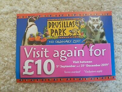 Drusillas Park Ticket Voucher £10 Offer