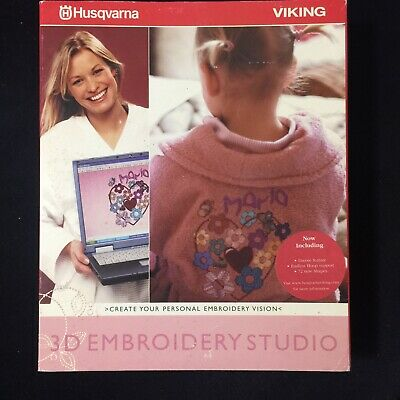 3D Embroidery Studio for Husqvarna Viking Embroidery Machines inc Dongle