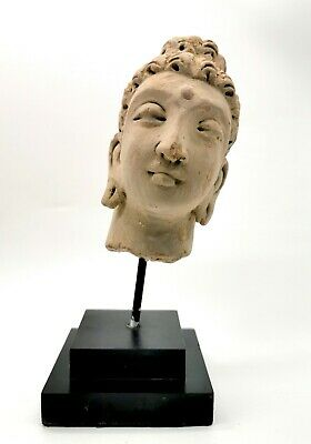 Attractive Gandhara Culture Ca.100 Ad Stucco Head Of Buddha - Rare - R795