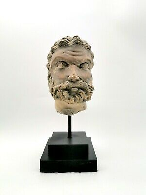 Attractive Gandhara Culture Ca.100 Ad Stucco Head Of A Prince  - Rare - R796