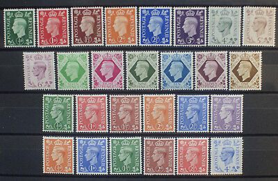 GB Complete Collection of KING GEORGE VI Definitives Mint 27 Stamps