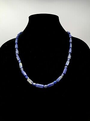 Near Eastern Ca.3000 Ab Lapis Lazuli Beaded Necklace- Wearable - R827