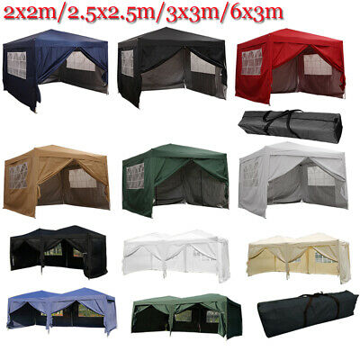 Heavy Duty Waterproof Pop Up Gazebo Garden Wedding Party Tent with 4 Sides