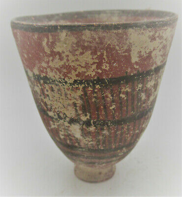 Circa 2200-1800Bce Ancient Indus Valley Harappan Beaker Cup Original Paintings