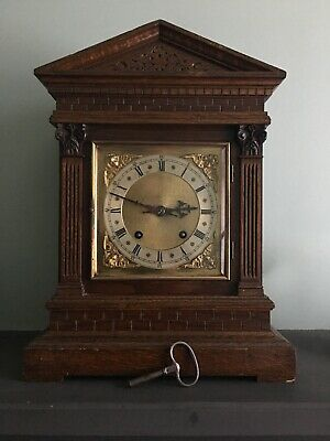 Old Large Wooden Cased Winterhalder & Hoffmeir Bracket Clock To Tidy Up Restore