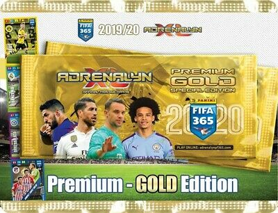 Panini Adrenalyn XL FIFA 365 2020er Version Premium Gold Booster 4x Limited Edi