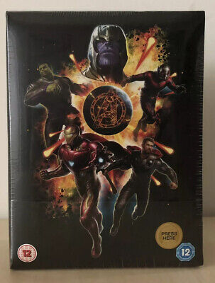 Avengers: Endgame 4K Ultra HD Zavvi Exclusive Collector's Edition Steelbook Set