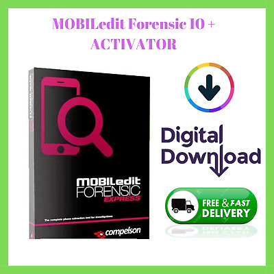 ✅ MOBILedit Forensic 10 (32 & 64 Bits ) ✅ LIFETIME ✔️ FAST DELIVERY 24H MAX ✔️