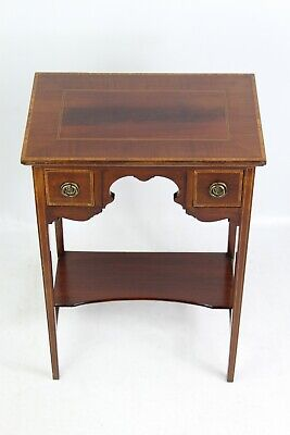 Small Antique Edwardian Mahogany Table - Chest Drawers Lowboy Cabinet Hall Stand