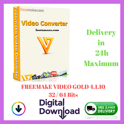 ✅ FREEMAKE VIDEO CONVERTER GOLD ✅ With ACTIVATOR LIFETIME 🔐 Digital Download 📥