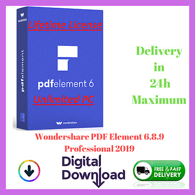 ✅ Wondershare P.D.F Element 6.8.9 Professional 2019 ✅ + ACTIVATOR LIFETIME 🔐