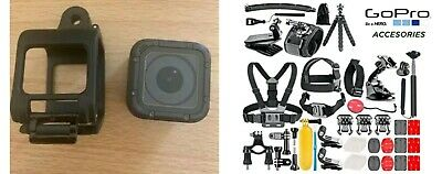 GoPro HERO 4 SESSION Action Camera With Huge Accessories Bundle Kit Attachments