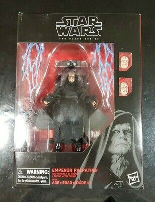 "Star Wars The Black Series Emperor Palpatine Deluxe 6"" Amazon Figure Throne"