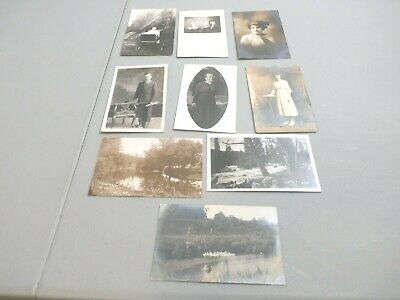 Vintage Real Photo Post Cards 1900 Not Used Lot Of 9