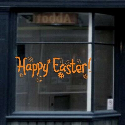HAPPY EASTER wall sticker seasonal shop window mural decal stickers design vinyl