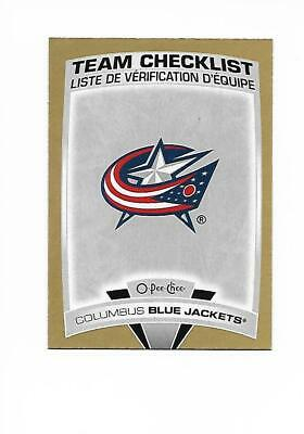 2019-20 O-Pee-Chee Blue Jackets Team Checklist Gold Glossy Parallel #559 (19-20)
