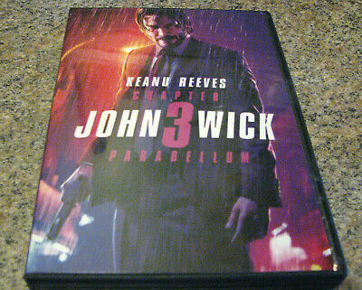 John Wick 3 Three~Parabellum (Dvd 2019) Includes 1St Class Shipg With Tracking #