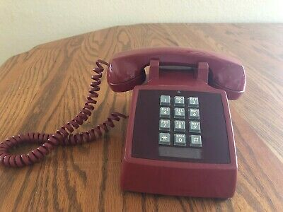 WE red touchtone phone telephone antique vintage. Modular.  #31