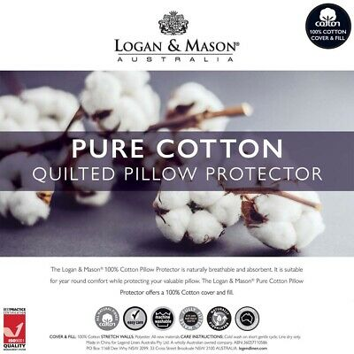 Logan and Mason Quilted Cotton Standard Pillow Protector