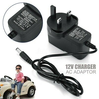 12V 1A Ride On Car Battery Charger Adapter For For Kids Electric Ride Car Bike