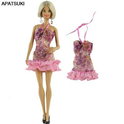 """Pink Fashion Doll Clothes For 11.5"""" 1/6 Doll Dress Short Dresses Gown Outfits"""