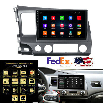 10.1'' Android MP5 Player GPS 2G + 32G WIFI 3G/4G OBD For 2006-2011 Honda Civic