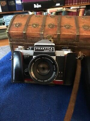 Practica Super TL SLR Film Camer With 50 Mm Yashica Lens And Leather Case