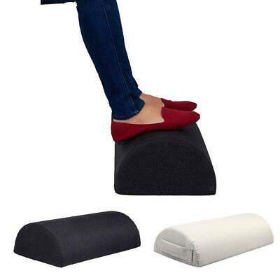 Washable Memory Foam Foot Rest Cushion Footrest Pillow Half Cylinder