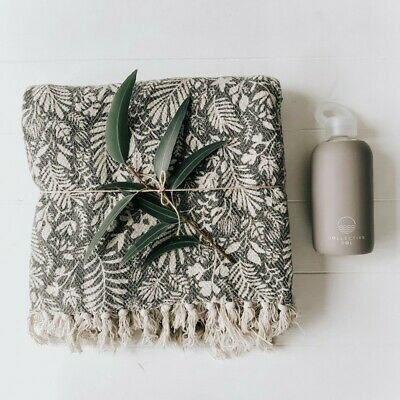 NEW Lola Throw + Grey Drink Bottle Gift Pack by Collective Sol