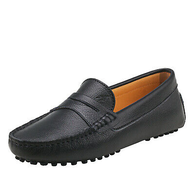 AUSLAND Genuine Leather Women Flats Loafers Driving Moccasin Slip-On Casual Shoe