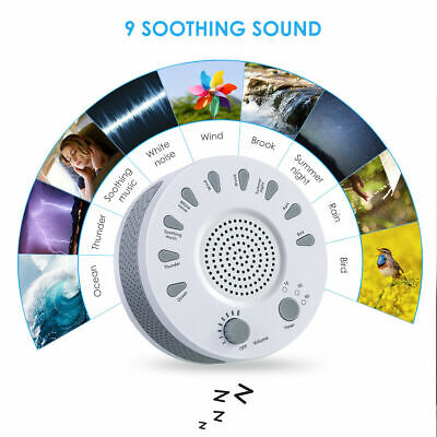 NEW Deep Sleep Machine White Noise Baby Therapy Solution 9 Peace Nature Sound W