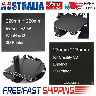 3D Printer 220*220 Hot Bed/ 235*235 Self-adhesive Build Surface Glass Plate AU