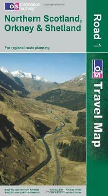 Northern Scotland, Orkney and Shetland (OS Travel Map - Road) (OS Travel Map - R